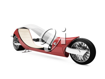 Royalty Free Clipart Image of a Futuristic Motorcycle