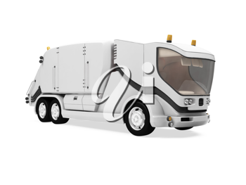 Royalty Free Clipart Image of a Garbage Truck