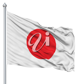 Royalty Free Clipart Image of the Flag of Japan