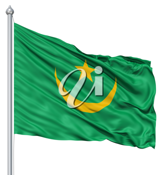 Royalty Free Clipart Image of the Flag of Mauritania