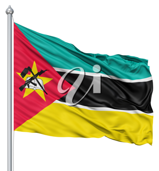 Royalty Free Clipart Image of the Flag of Mozambique