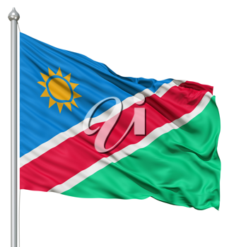 Royalty Free Clipart Image of the Namibia Flag