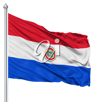Royalty Free Clipart Image of the Flag of Paraguay
