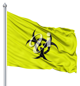 Royalty Free Clipart Image of a Radiation Flag