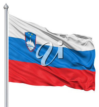 Royalty Free Clipart Image of the Flag of Slovenia