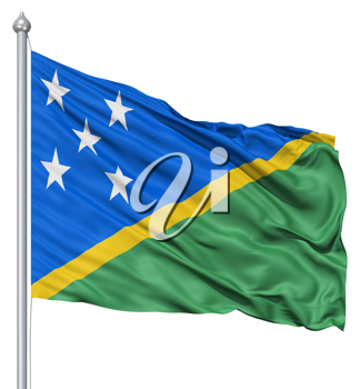 Royalty Free Clipart Image of the Flag of Solomon Islands