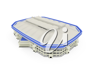 Royalty Free Clipart Image of a Stadium
