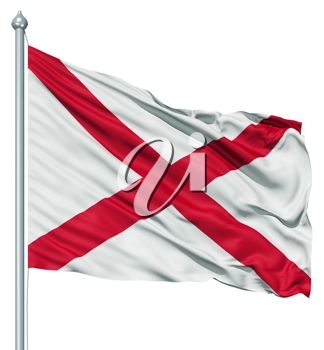 Royalty Free Clipart Image of the Flag of Alabama
