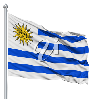Royalty Free Clipart Image of the Flag of Uruguay