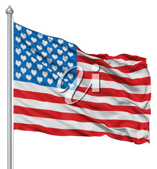 Royalty Free Clipart Image of an American Flag Concept