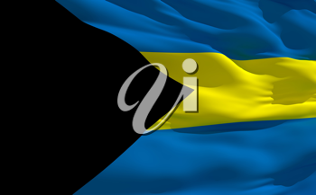 Royalty Free Clipart Image of the Flag of Bahamas