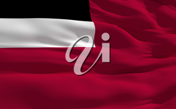 Royalty Free Clipart Image of the Flag of Georgia