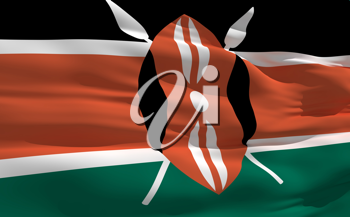 Royalty Free Clipart Image of the Flag of Kenya