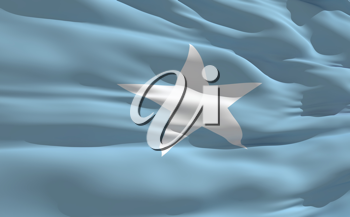 Royalty Free Clipart Image of the Flag of Somalia