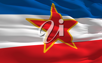 Royalty Free Clipart Image of the Flag of Yugoslavia