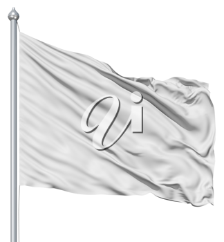 Royalty Free Clipart Image of a White Flag