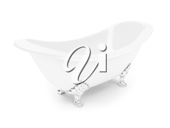 Royalty Free Clipart Image of a Bathtub