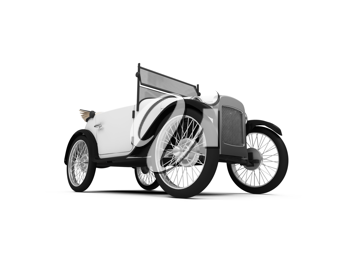 Royalty Free Clipart Image of an Antique Car