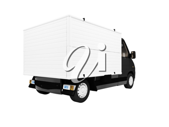 Royalty Free Clipart Image of a Van