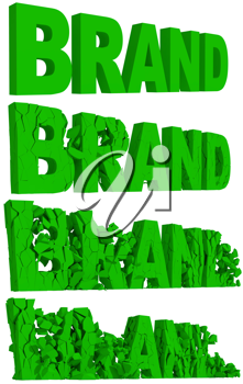 Royalty Free Clipart Image of the Word Brand