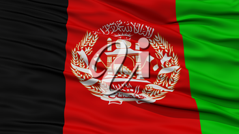 Closeup Afghanistan Flag, Waving in the Wind, High Resolution