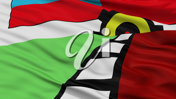 Lanus City Flag, Country Argentina, Closeup View, 3D Rendering