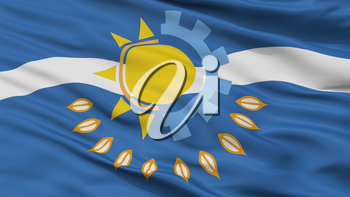 Partido De Chivilcoy City Flag, Country Argentina, Closeup View, 3D Rendering