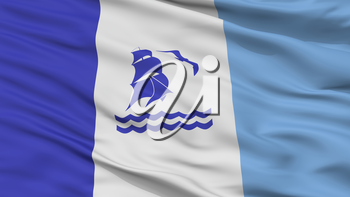 Rio Gallegos City Flag, Country Argentina, Closeup View, 3D Rendering