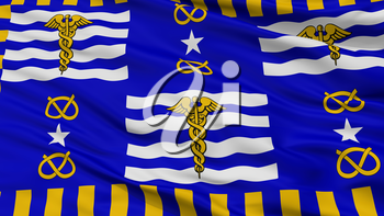 Brisbane City Flag, Country Australia, Closeup View, 3D Rendering