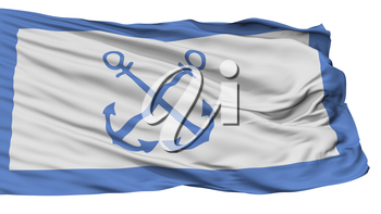 Bandera De Prefectura Naval Argentina Flag, Isolated On White Background, 3D Rendering