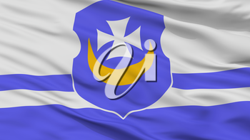 Vorsza City Flag, Country Belarus, Closeup View, 3D Rendering