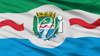 Maceio City Flag, Country Brasil, Closeup View, 3D Rendering