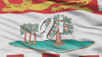 Prince Edward Island City Flag, Country Canada, Closeup View, 3D Rendering