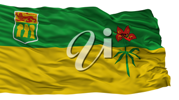 Saskatchewan Province City Flag, Country Canada, Isolated On White Background, 3D Rendering