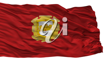 La Serena City Flag, Country Chile, Isolated On White Background, 3D Rendering