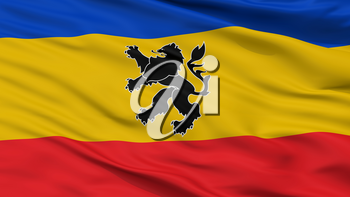 Lo Prado City Flag, Country Chile, Closeup View, 3D Rendering