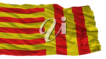 Peer City Flag, Country Belgium, Isolated On White Background, 3D Rendering