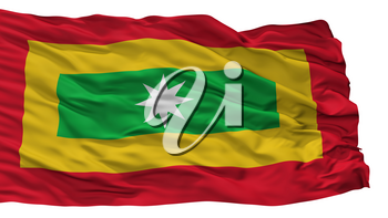 Barranquilla City Flag, Country Colombia, Isolated On White Background, 3D Rendering
