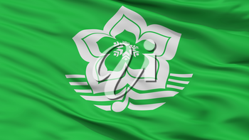 Harbin City Flag, Country China, Closeup View, 3D Rendering