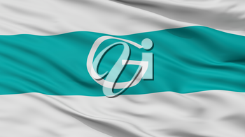 Galapa City Flag, Country Colombia, Closeup View, 3D Rendering