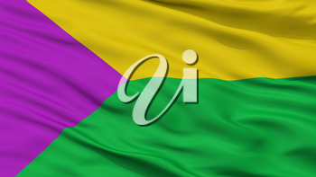 Turmeque City Flag, Country Colombia, Boyaca Department, Closeup View, 3D Rendering
