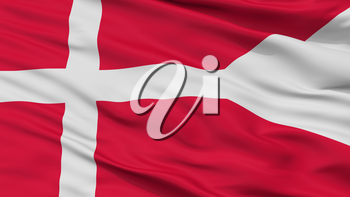 Denmark State Flag, Closeup View, 3D Rendering