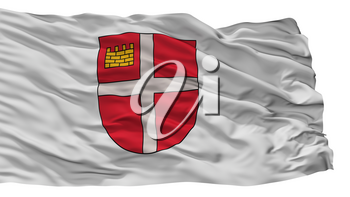 Ikskile City Flag, Country Latvia, Isolated On White Background, 3D Rendering