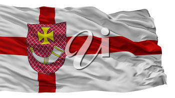 Ventspils City Flag, Country Latvia, Isolated On White Background, 3D Rendering