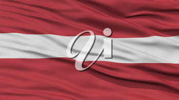 Closeup Latvia Flag, Waving in the Wind, High Resolution