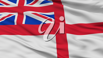 United Kingdom Naval Ensign Flag, Closeup View, 3D Rendering