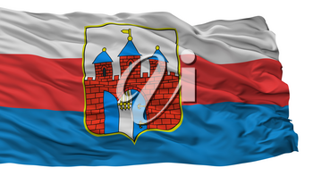 Bydgoszcz City Flag, Country Poland, Isolated On White Background, 3D Rendering
