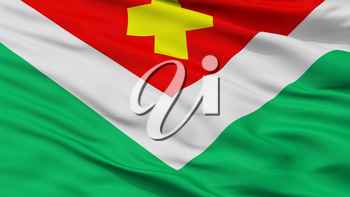 Spas Demensk City Flag, Country Russia, Closeup View, 3D Rendering