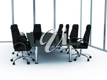 Royalty Free Clipart Image of a Conference Room