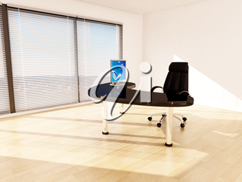 Royalty Free Clipart Image of an Office